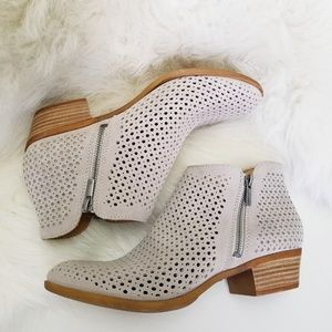 NWT Lucky Brand Suede Perforated Ankle Booties